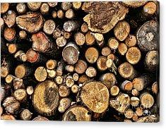 Wood Log Stack Number 144 Acrylic Print