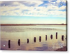 Acrylic Print featuring the photograph Wood Pilings In Still Water by Colleen Kammerer