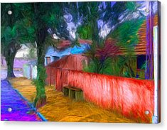 Wood Plank House In Rebelshire Acrylic Print by Caito Junqueira