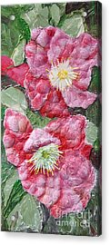 Acrylic Print featuring the painting Wood Roses by Terri Thompson