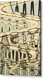 Wood Sine Acrylic Print by Ron Bissett