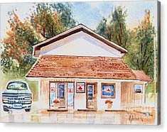 Woodcock Insurance In Watercolor  W406 Acrylic Print by Kip DeVore
