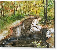 Wooded Creek Acrylic Print