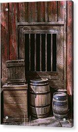 Wooden Barrels Acrylic Print