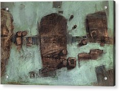 Symbol Mask Painting - 05 Acrylic Print by Behzad Sohrabi