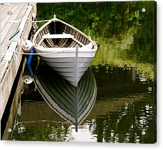 Wooden Boat Acrylic Print by Sonja Anderson