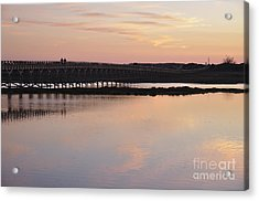 Wooden Bridge And Twilight Acrylic Print