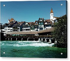 Wooden Bridge Acrylic Print by Mimulux patricia no No
