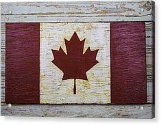 Wooden Canadian Flag Acrylic Print