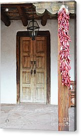 Acrylic Print featuring the photograph Wooden Chili Door by Andrea Hazel Ihlefeld