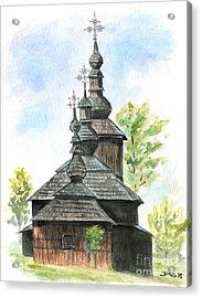 Wooden Church Acrylic Print by Jana Goode
