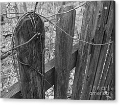 Wooden Fence Acrylic Print by Jeff Breiman