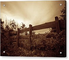 Wooden Fence Acrylic Print by Wim Lanclus