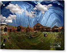 Wooden Ghost Town Acrylic Print by Ronald Hoggard