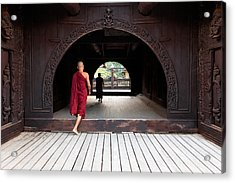 Acrylic Print featuring the photograph Wooden Monastery by Marji Lang