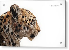 Acrylic Print featuring the photograph Wooden Panther by Stwayne Keubrick