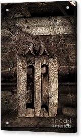 Wooden Pulley Acrylic Print by Pete Hellmann