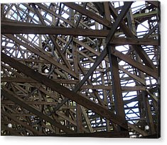 Wooden Rollercoaster Acrylic Print by Anthony Haight