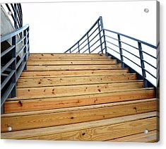 Wooden Staircase To The Sky Acrylic Print by Yali Shi