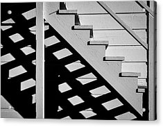 Wooden Stairs Acrylic Print by Garry Gay