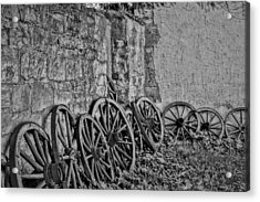 Wooden Tires Acrylic Print