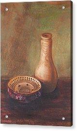 Wooden Vase Acrylic Print by Srilata Ranganathan