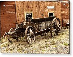 Wooden Wagon Acrylic Print by Jeff Swan