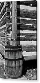 Wooden Water Barrel Acrylic Print by Douglas Barnett