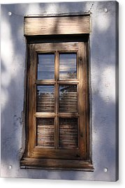 Wooden Window In The Shadows Acrylic Print by Kim Chernecky
