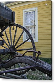 Acrylic Print featuring the photograph Woodgrain And Lace by Nancy Taylor