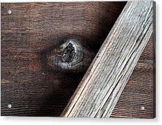 Woodgrain...barnwood Acrylic Print by Tom Druin