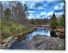 Woodhull Creek In May Acrylic Print by David Patterson