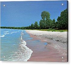 Woodland Beach Acrylic Print by Kenneth M  Kirsch