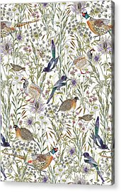 Woodland Edge Birds Acrylic Print by Jacqueline Colley