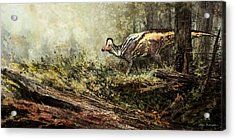 Woodland Encounter - Corythosaurus Acrylic Print by Angie Rodrigues