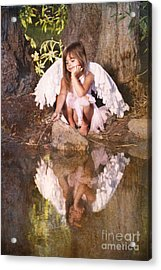 Woodland Fairy Acrylic Print by Cindy Singleton