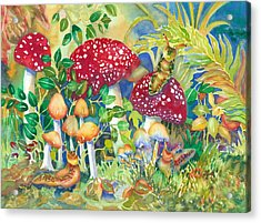 Woodland Visitors Acrylic Print