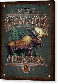 Woodlands Moose Acrylic Print by JQ Licensing