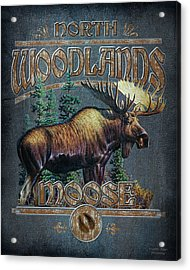 Woodlands Moose Sign Acrylic Print