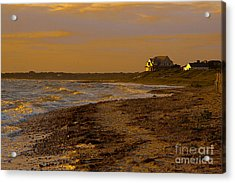Woodneck Beach Sunset Acrylic Print by Michael Petrizzo