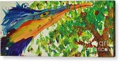 Woodpecker Acrylic Print by Jamey Balester