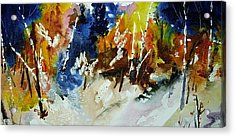 Woods Abalze Acrylic Print by Wilfred McOstrich