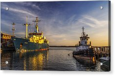 Woods Hole Ship Yard Acrylic Print