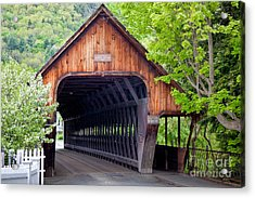 Woodstock Middle Bridge Acrylic Print by Susan Cole Kelly