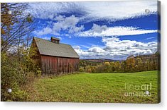 Woodstock Vermont Old Red Barn In Autunm Acrylic Print