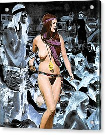 Woodstock Woman Acrylic Print by Louis Nugent