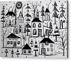 Woodsy Village Acrylic Print