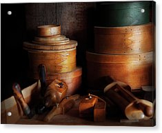 Woodworker - Shaker Box Shop  Acrylic Print by Mike Savad