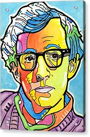 Acrylic Print featuring the painting Woody Allen by Dean Russo
