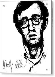 Woody Black N White  Acrylic Print by Enki Art